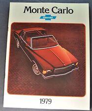 1979 Chevrolet Monte Carlo Catalog Brochure Coupe Landau Excellent Original 79