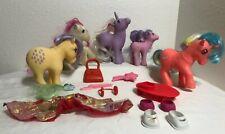 Lot of Vintage G1 My Little Pony and accessories Lemon Drop Speedy Skateboard