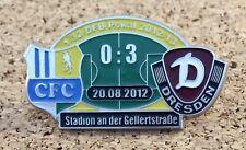 Pin Chemnitzer FC vs Dynamo Dresden DFB Pokal 20.08.2012