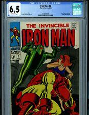 Iron Man #2 CGC 6.5 1968  1st Demolisher  Marvel Comic Amricons K19