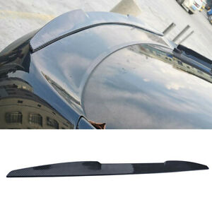 Carbon Fiber Look Rear Trunk Tail Lip Spoiler Wing Trim Decor Auto Accessories