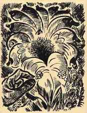 Die BLÜTE - Frans MASEREEL - La FLEUR - 1947 - The FLOWER - La FLOR