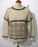Island Norweger Strick Pullover Grösse M Herren Wolle Handarbeit G612