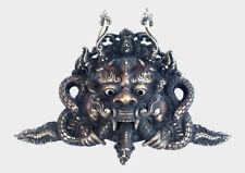 Tibetan Cheppu Wall Hanging Mask, Brass Artwork, Tibetan Home Decor MSK05