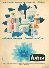 A- Publicité Advertising 1966 Couches pour bébé Mouchoirs Lotus