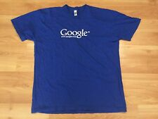 GOOGLE T SHIRT MENS SIZE XL BLUE WHITE GOOGLE DOT COM TECH TECHIE INFORMATION