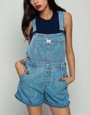 Calvin Klein Blue Denim Bib Romper Small Vtg Grunge 90s