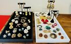 Antique+Vintage+Jewelry+Lot+Costume+Estate+Eclectic+Crystal+Designer+Earrings