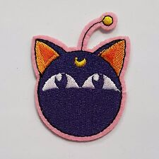 Iron On Embroidered Patch Sailor Moon Cat Applique - for Hat Jacket T-Shirt DIY