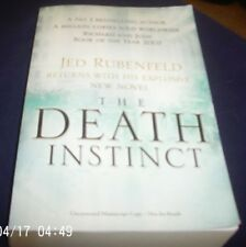 Jed Rubenfeld The Death Instinct Signed Proof Copy Ltd Edition 44/120 Copies