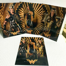 4pc Wonder Woman Movie 2017 Mirror Surface Postcard Promo Card Poster Card A11