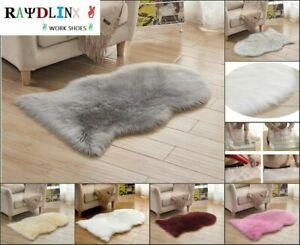 Faux Fur Bathroom Rug Lambskin Sheepskin dekofell Bedside Plush Carpet DE