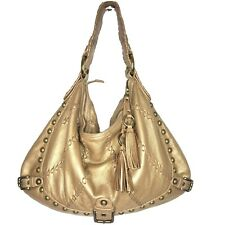 Isabella Fiore gold Studded hobo bag
