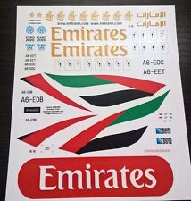 Airbus A-380 Emirates decal 1144 for Revell