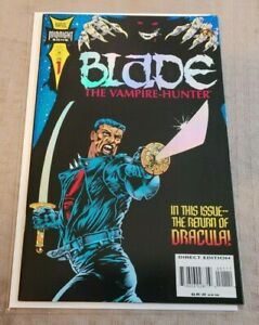 Blade The Vampire Hunter #1 NM+ 1ST Solo Series Foil Cover Marvel 1994