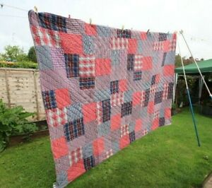 Bohemian Multi Patchwork Throw Blanket Indian bedspread Handmade Walton & Co LTD
