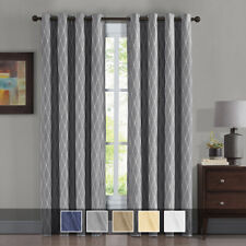 Victoria Blackout Window Curtains 2 Panels Grommet Jacquard Thermal Insulated