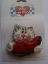 Cat Eating Watermelon Pin Eddie Walker Midwest of Cannon Falls - New in Pkg