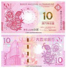 Macau 10 Patacas 2013 BNU Zodiac Issue Year of Snake P-86 Banknotes UNC