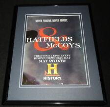 Hatfields & McCoys 2012 History 11x14 Framed ORIGINAL Advertisement B Paxton