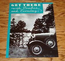 1930 Ford Model A Car Sales Brochure 30 Victoria Sedan Convertible Roadster
