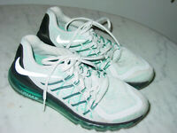 """2014 Nike Air Max 2015 """"White Clearwater"""" Running Shoes! Size 7.5 Sold As Is!"""