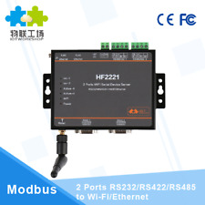 HF2221 Industrial Modbus 2Ports Serial Server RS232/RS485/RS422 to WiFi Ethernet