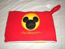 Disney World Pillow Blanket Mickey Mouse Fleece folds into pillow NWT Rare, HTF!