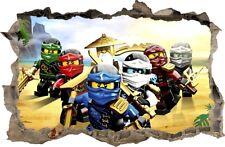 Autocollant Mural trou dans le mur LEGO NINJAGO Stickers muraux STICKER 81