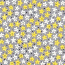 """10mm SMALL STARS Fabric 100/% craft quilting cotton 58/"""" WIDE grey blue pink star"""