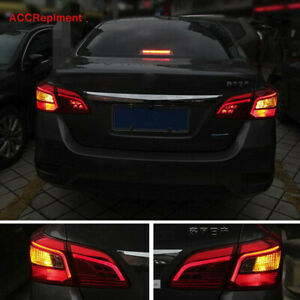 4Pcs For Nissan Sentra Tail Lights Assembly 2016-2019 Red Color LED Rear Lamps
