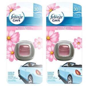 2 X Pack Febreze Blossom & Breeze Air Freshener Clip On Car Van Vehicle Scent