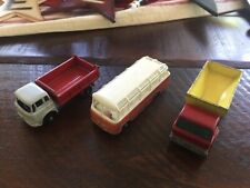 Vintage Matchbox Lesney - Lot of 3 - Mercedes Coach 68 - Grit Truck 70 Tipper 3