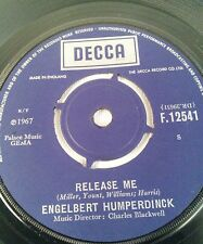 """Engelbert Humperdinck – Release Me Vinyl 7"""" Single UK Decca – F.12541 1967"""