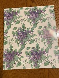 Vintage Kitsch Flowers Floral Purple Violets Forget-Me-Not Gift Wrapping Paper