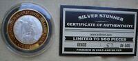 1 OZ  SILVER STUNNER TOKEN DINGO LIM ED  57  OF 500 GOLD & SILVER