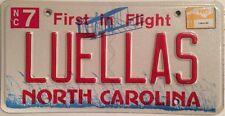 North Carolina vanity LUELLAS license Plate Luella Louella Luela Luel Las