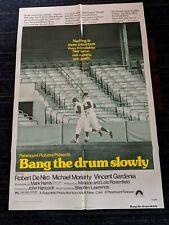 Vintage 'Bang the Drum Slowly'  Movie poster *Vintage Baseball 1973