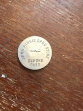 Oxford Ohio John Minnis Drug Store Token Coin Trade Good For 25 Cents OH