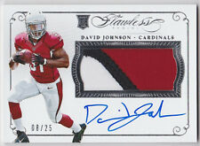 DAVID JOHNSON 2015 FLAWLESS ROOKIE RC 3 COLOR PATCH AUTOGRAPH AUTO 8/25!