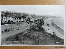 Devon BUDLEIGH SALTERTON Sea Front & Beach - Old RP Postcard by Harvey Barton