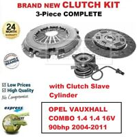 FOR OPEL VAUXHALL COMBO 1.4 1.4 16V 90bhp 2004-2011 NEW 3-PC CLUTCH KIT with CSC