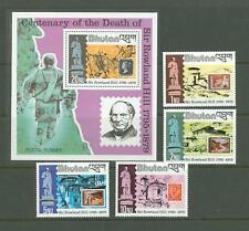 S Stamp on Stamp F20 Bhutan 1980 MNH s/s 4v CV 11,50 eur