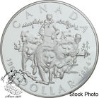 Canada 1994 $1 RCMP Northern Dog Team Proof Silver Dollar Coin - Capsule Only