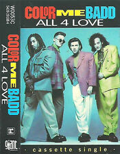 Color Me Badd All 4 Love CASSETTE SINGLE Hip Hop Pop Rap Giant Records  Reprise