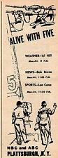 1966 WPTZ Tv Ad ~ News w Al Hill/Bob Bruso/Len Cane in PLATTSBURGH,NEW YORK