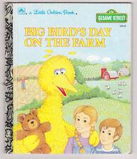 BIG BIRD'S DAY ON THE FARM Sesame street  A Little Golden Book