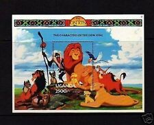 UGANDA - 1994 - DISNEY - THE LION KING - CHARACTERS - MINT - S/SHEET!