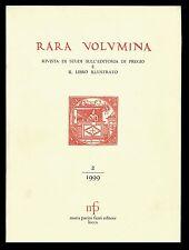Rara volumina 1999-2 La Biblioteca degli Uffìzi Biblioteca Universitaria Genova