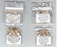 25 White Organza Wedding Safflower Seed Toss Packs 4 Ur Wedding Day + Poem